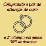Promo��o Limitada na Compra do Par de Alian�as de Ouro 18k