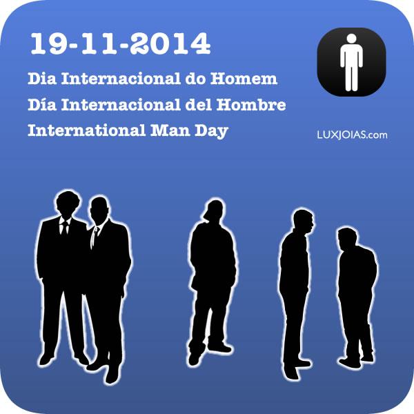 19 de Novembro - Dia Internacional do Homem - Jóia o presente especial para seu Namorado, Noivo, Amigo, Pai, Avô ou Irmão