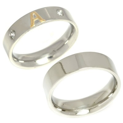 News: Stainless steel ring with appliques of Custom Letters and Words in Gold