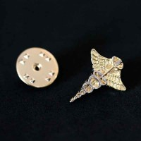 Bottom Broche Folheado a Ouro Optometria