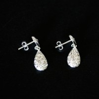 925 Silver Earring Drops with Zirconia