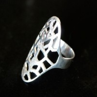 925 Silver Ring with details