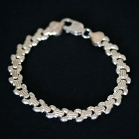 925 Silver Bracelet Crafted 18cm / 8mm