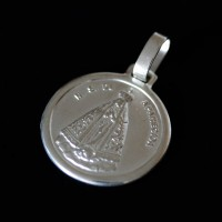 Pendant 925 Silver Round Our Lady of Aparecida