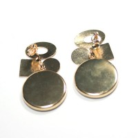 Semi Earring Jewelry Gold Plated with Onyx Stone