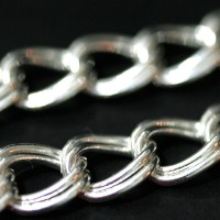 Chain Silver 925 2 Links 50cm / 1cm
