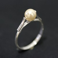 Ring of Silver 925 with Pearl