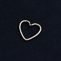 Piercing Tragus Cartilage Helix Daith Heart Earring Gold Yellow 24k 24k 0,5mm x 9mm