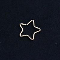 Piercing Tragus Cartilage Star Gold Plated Yellow Gold 24k 0,5mm x 9mm