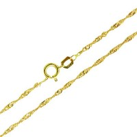 18k Yellow Gold Chain Singapore 45cm / 1mm