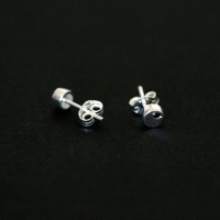 925 Silver Earring with Stone Male Round