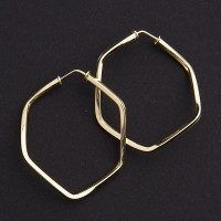 Earring of Yellow Gold with Ring Woven