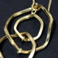 Earring of Yellow Gold with 3 Rings Woven