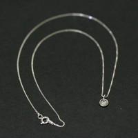 Necklace 925 Silver Point Light 40 CM