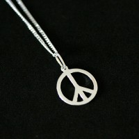 Necklace 925 Silver Pendant with Peace