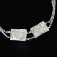 Scapular Bracelet 925 Silver Guardian Angel with Holy Spirit 14cm