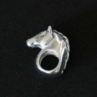 Silver pendant 925 Horse for Bracelet Moments of Life