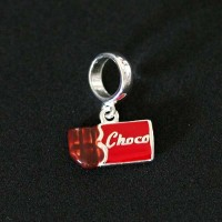 Silver pendant 925 Chocolate for Bracelet Moments of Life