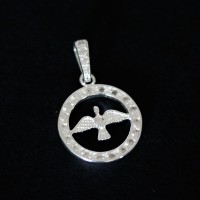 925 Silver Pendant with Stone Holy Spirit Zirconia