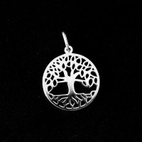 925 Silver Pendant Tree of Life Medal