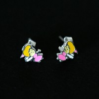 925 Silver Earring with Resin Fairy