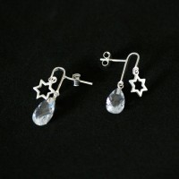 Silver Earring 925 Glamour Star with Zirconia Stone
