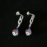 Seduction 925 Silver Earring with Stone Zirconia