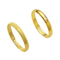 Alliance Gold 18k 750 Width 2.80mm Height 1.10mm / Alliance 18k Gold 750 with 1 Brilliant 1.00 Points Width 2.80mm Height 1.10mm