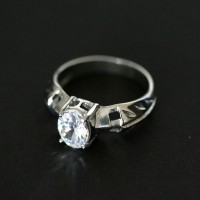 Ring of Steel with Stone Zirconio
