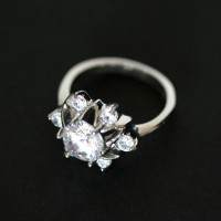 Margaret Steel Ring with Zirconia Stone