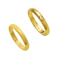 Alliance Gold 18k 750 Width 3.20mm Height 1.50mm / Alliance 18k Gold 750 with 1 Brilliant 2.25 Points Width 3.20mm Height 1.50mm