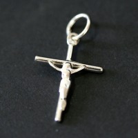 Silver Cross Pendant 925 Plain Palito
