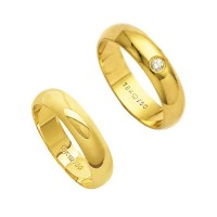 Alliance Gold 18k 750 Width 5.00mm Height 1.50mm / Alliance with 18k Gold 750 1 Bright 6.00 Points Width 5.00mm Height 1.50mm