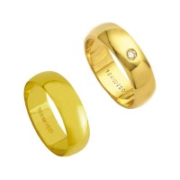 Alliance Gold 18k 750 Width 6.00mm Height 1.30mm / Alliance with 18k Gold 750 1 Bright 6.00 Points Width 6.00mm Height 1.50mm