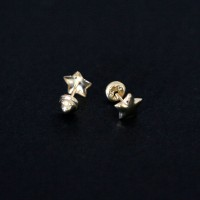 Earring 18k Gold Mini Star