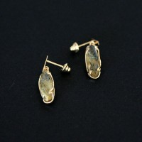 18k Gold Earring M. Daiane with Natural Stone