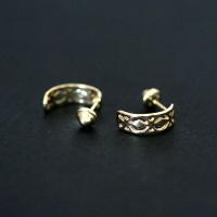 Earring 18k Gold Forever Trio Hollow