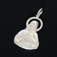 Pendant 925 Silver Sacred Heart of Jesus
