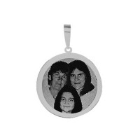 Steel pendant for recording picture 11 mm