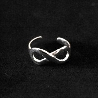 925 Sterling Silver Adjustable Falange Ring