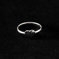 925 Silver Ring Falange Heart
