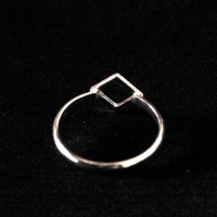 925 Silver Square Small Square Ring