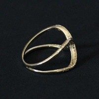 Ring Semi Jewelry Gold Plated Worked
