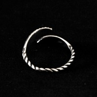 925 Silver Ring Aged Adjustable Sheet