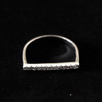 Silver Ring 925 Straight Studded