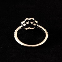 925 Silver Ring Dog Duck with Zirconia Stones