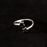 Silver Ring 925 Phalanx Adjustable Stars