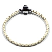 Synthetic Leather Bracelet with Silver Bath Life Moments 18cm / 3mm