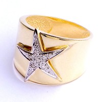 Ring Yellow Gold with 6 Diamonds of 1 Point