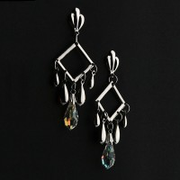 Earring Steel with Crystal Stone